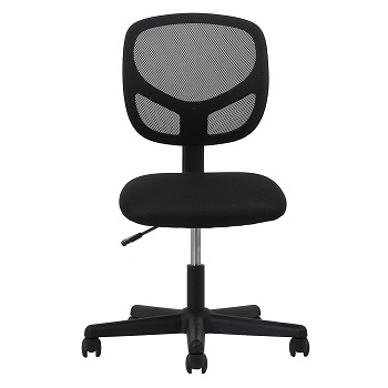 BEST ARMLESS BEST OFFICE CHAIR FOR LOWER BACK PAIN UNDER $300