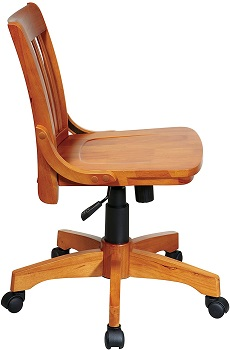 BEST ARMLESS WOOD BANKERS CHAIR