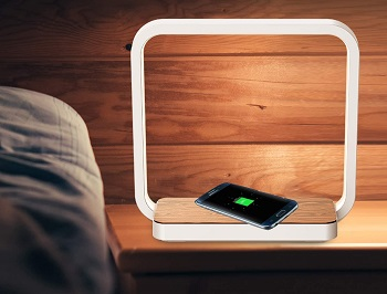 BEST BEDSIDE LED LAMP WITH WIRELESS CHARGER