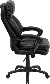 BEST BLACK LEATHER BLACK HIGH BACK OFFICE CHAIR