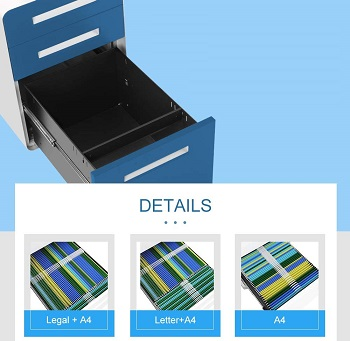 BEST BLUE COLORFUL FILE CABINET