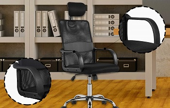 BEST COMPUTER HIGH-BACK OFFICE CHAIR WITH HEADREST