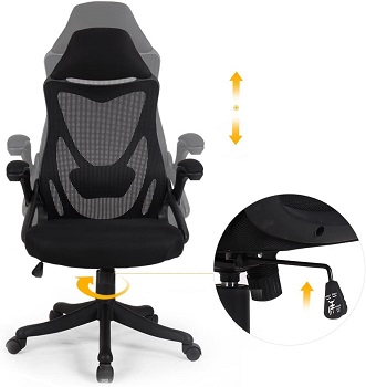 BEST ERGONOMIC HIGH-BACK OFFICE CHAIR WITH LUMBAR SUPPORT