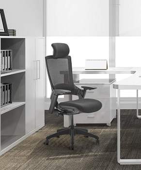 BEST FOR STUDY HIGH BACK OFFICE CHAIR WITH ADJUSTABLE ARMS