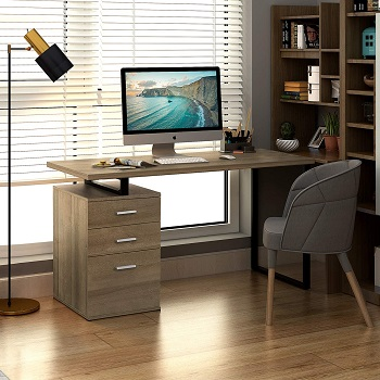 BEST HOME OFFICE COMPUTER DESK WITH FILE CABINET