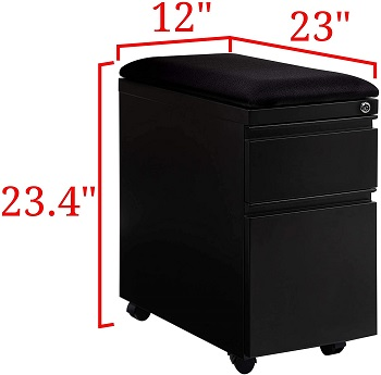 BEST LOCKED CUSHION TOP FILE CABINET