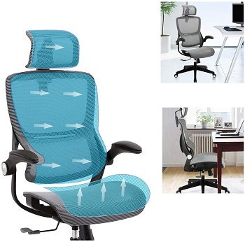 BEST MESH HIGH BACK OFFICE CHAIR WITH ADJUSTABLE ARMS