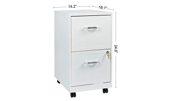 BEST ON WHEELS CHEAP 2-DRAWER FILE CABINET