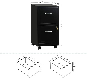 BEST ON WHEELS COMMERCIAL FILE CABINET