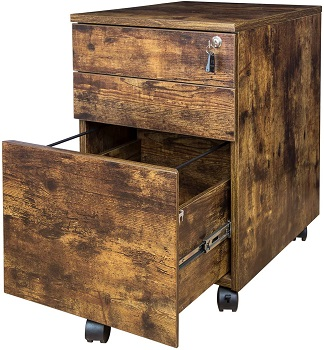 BEST ON WHEELS DISTRESSED FILING CABINET