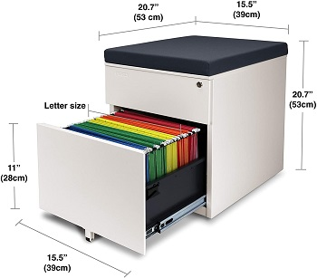 BEST PORTABLE CUSHION TOP FILE CABINET