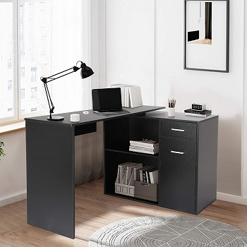 BEST SMALL CORNER DESK WITH FILE CABINET