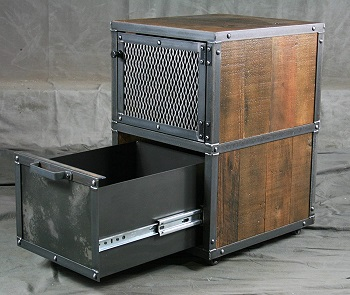 BEST SMALL DISTRESSED FILING CABINET