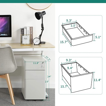BEST SMALL WHITE COLORFUL FILE CABINET