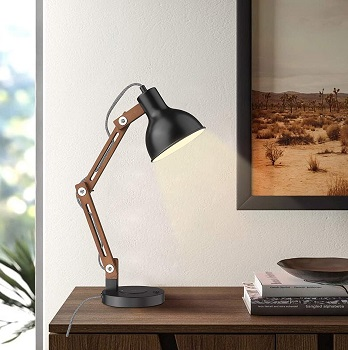 BEST SWING ARM LED DESK LAMP WITH WIRELESS CHARGING