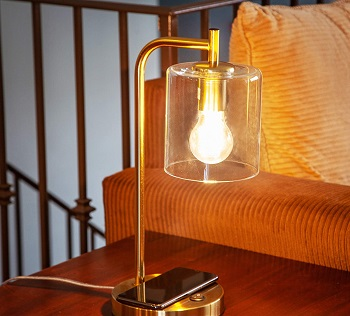 BEST VINTAGE LED DESK LAMP WITH WIRELESS CHARGING