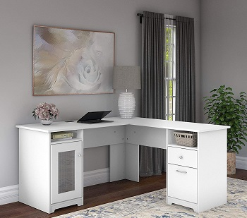 BEST WHITE COMPUTER DESK WITH FILE CABINET