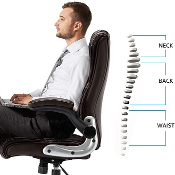 BEST WITH ARMRESTS COMFORTABLE HIGH-BACK CHAIR