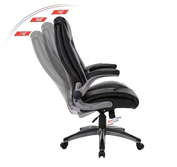 BEST WITH ARMRESTS HIGH BACK OFFICE CHAIR WITH ADJUSTABLE ARMS