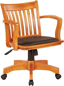 BEST WITH BACK SUPPORT BANKERS CHAIR ANTIQUE