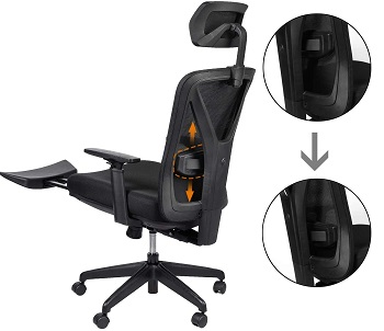 BEST WITH BACK SUPPORT HIGH-BACK OFFICE CHAIR WITH LUMBAR SUPPORT