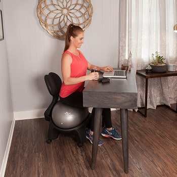 BEST WITH BACK SUPPORT STABILITY BALL FOR DESK
