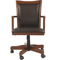 BEST WOOD BANKERS CHAIR WITH PADDED SEAT Summary