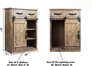 BEST WOOD DISTRESSED FILING CABINET