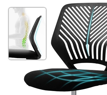 Bossin Armless Computer Chair