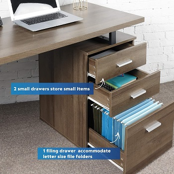 DEVAISE Computer Desk with Drawer