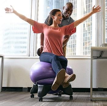Gaiam B006JBWYDA Classic Balance Ball Chair