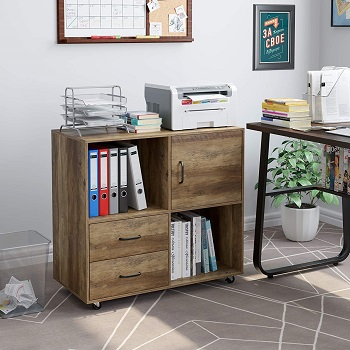 HOMECHO Lateral File Cabinet with 2
