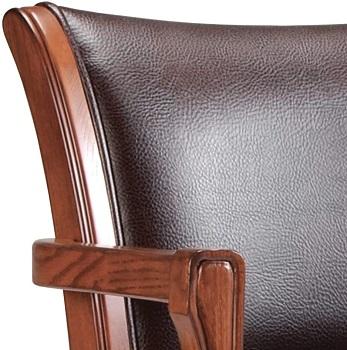 Hillsdale 4186 Caster Brown Chair