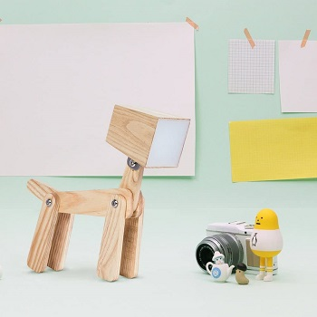 Hroome Cute Dog Wooden Lamp