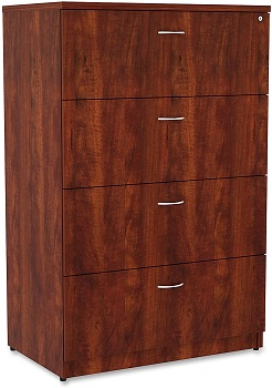 Lorell Essentials Lateral File, Cherry