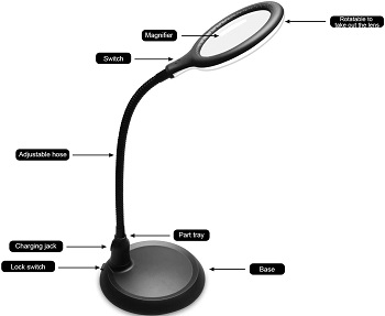 Nomiou Magnifying Glass Lamp
