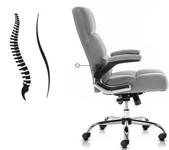 Seatingplus 3288GY Velvet Desk Chair