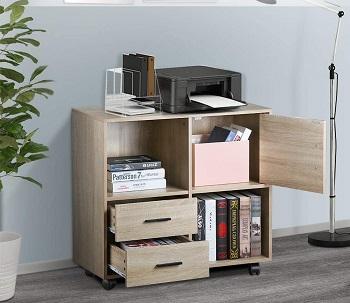 VANSPACE 2 Drawers Wood File Cabinet