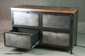 Vintage Industrial File Cabinet with