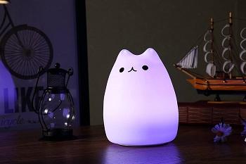 WoneNice Portable Cute Kitty LED Lamp