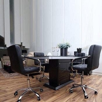 Yaheetech Leather Computer Chair