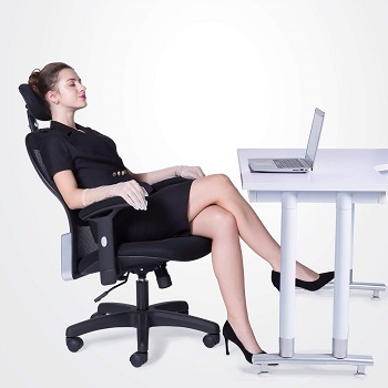 BEST ARMRESTS OFFICE CHAIR WITH LUMBAR AND NECK SUPPORT