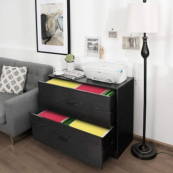 BEST BLACK 2-DRAWER LATERAL FILE CABINET