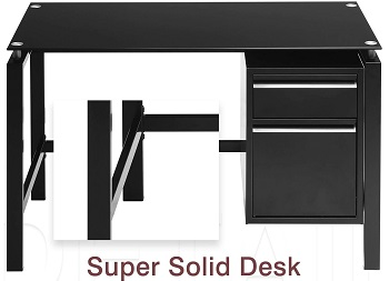 BEST BLACK CHEAP DESK WITH FILE CABINET