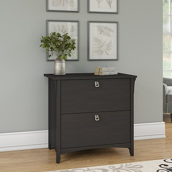 BEST BLACK WOOD LATERAL FILE CABINET