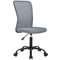 BEST ERGONOMIC ARMLESS OFFICE CHAIR WITH LUMBAR SUPPORT Summary