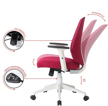 BEST ERGONOMIC LOW-BACK OFFICE CHAIR WITH ARMS