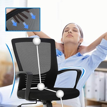 BEST ERGONOMIC MESH OFFICE CHAIR WITH LUMBAR SUPPORT