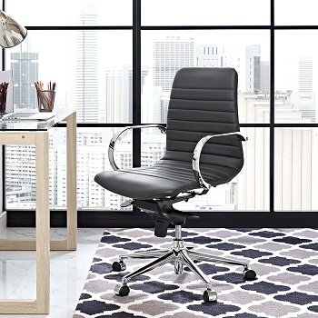 BEST FOR STUDY LOW-BACK OFFICE CHAIR WITH ARMS