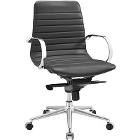 BEST FOR STUDY LOW-BACK OFFICE CHAIR WITH ARMS Summary